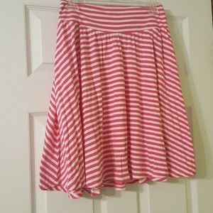 Pink striped Old Navy skirt